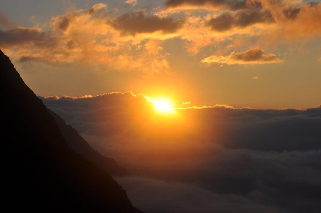 Sonnenaufgang im Wangenitztal