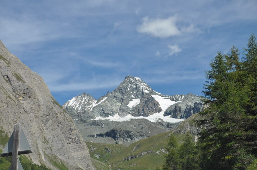der Großglockner von Osttiroler Seite, fotografiert vom Lucknerhaus