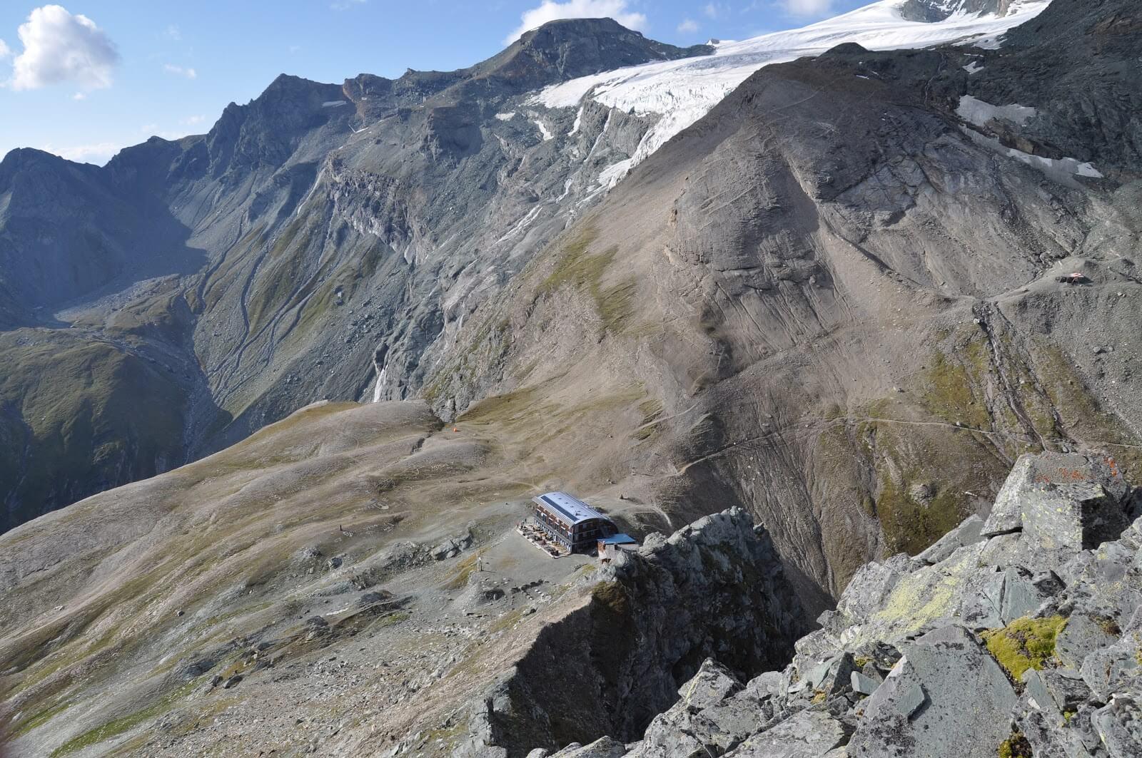 die Stüdlhütte vom Fanatkogel aus fotografiert