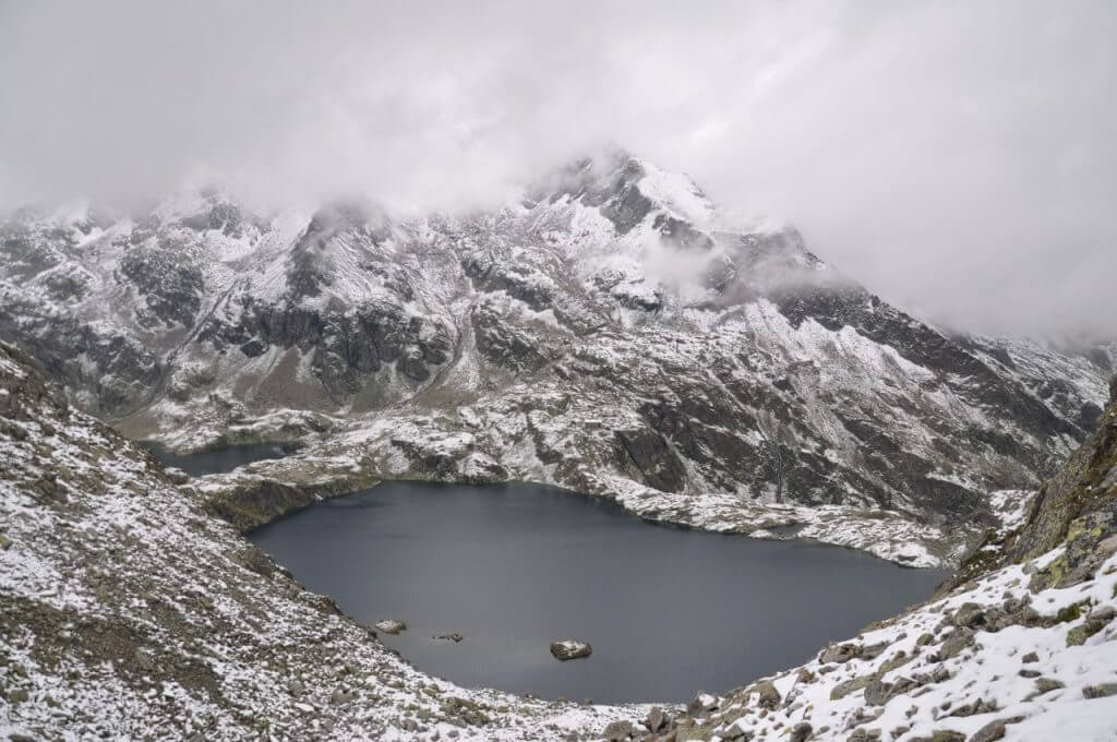 Blick auf den Wangenitzsee aus der oberen Seescharte