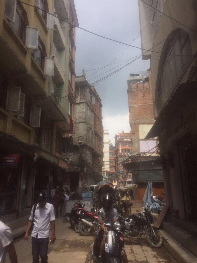 in den Straßen von Kathmandu