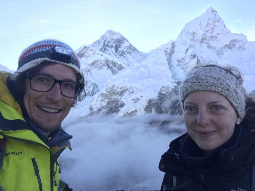 Mount Everest (Sagarmatha, Qomolangma) und Nuptse