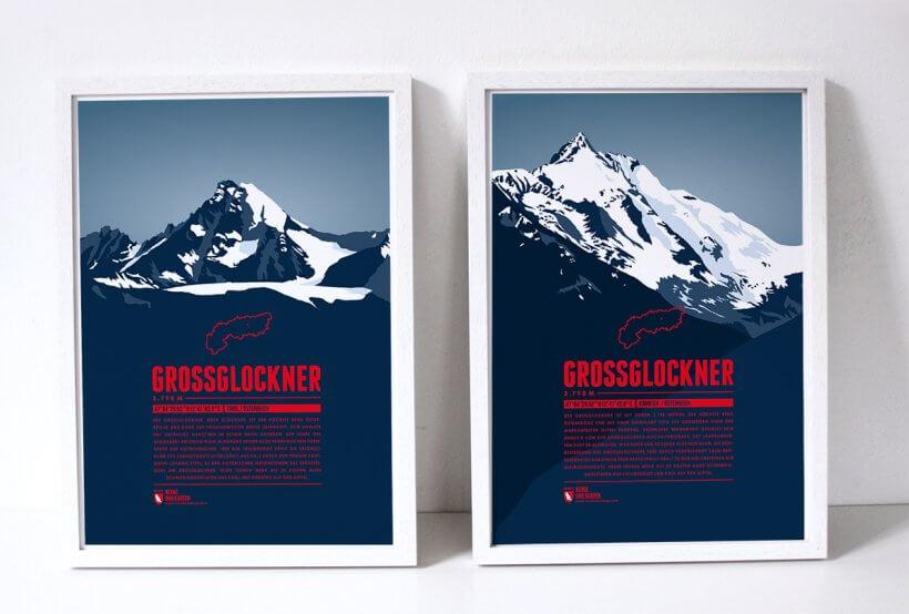 Großglockner Bergdrucke von Marmota Maps