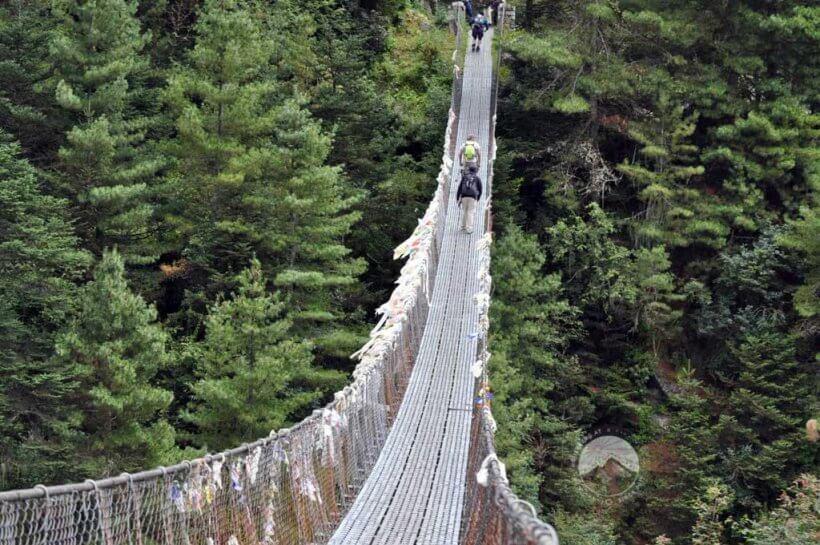 die alltäglichen Hängebrücken im Khumbu