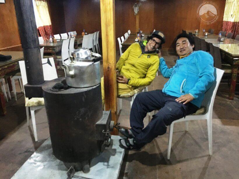 mit Prem in der Peaceful Lodge