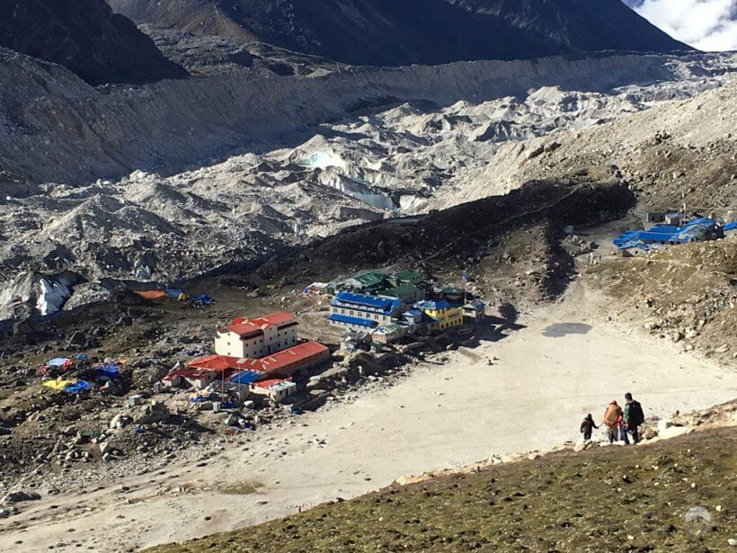 Gorakshep im Abstieg vom Kala Patthar