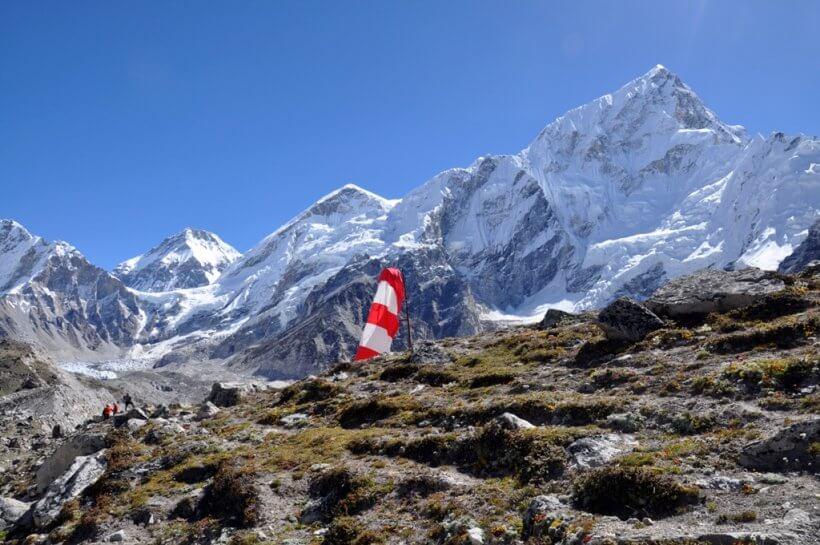 Everest West Summit und Nuptse