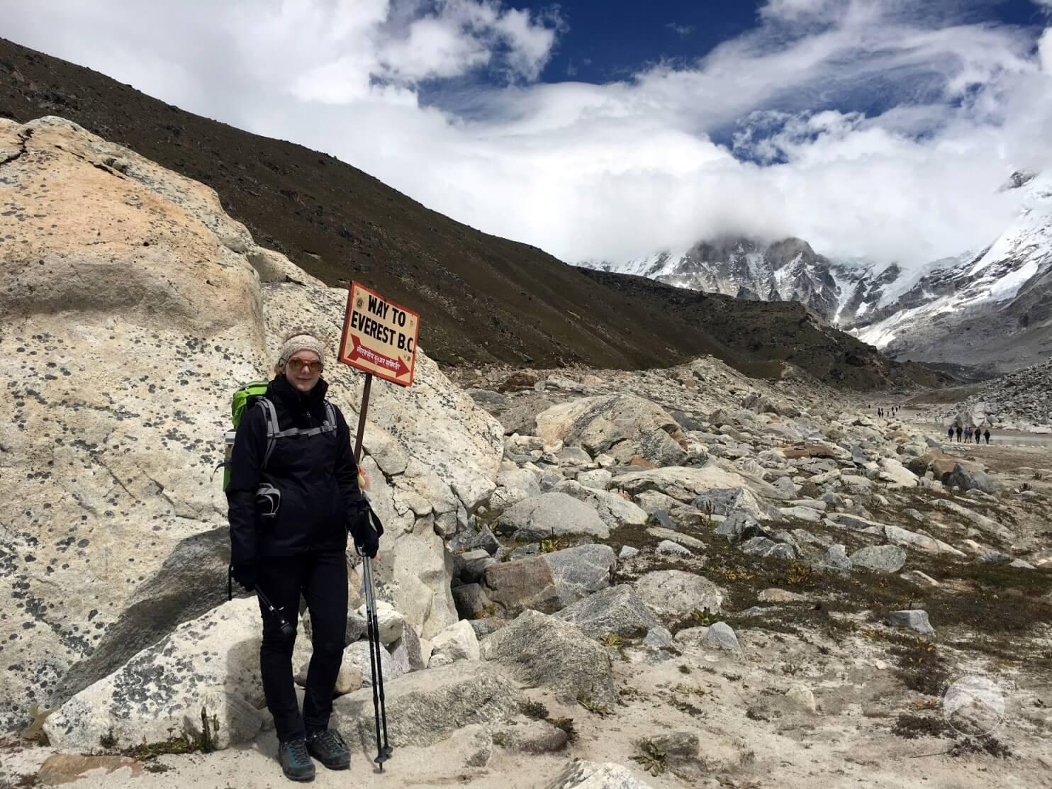 Path to Everest Base Camp at Gorak Shep, Nepal