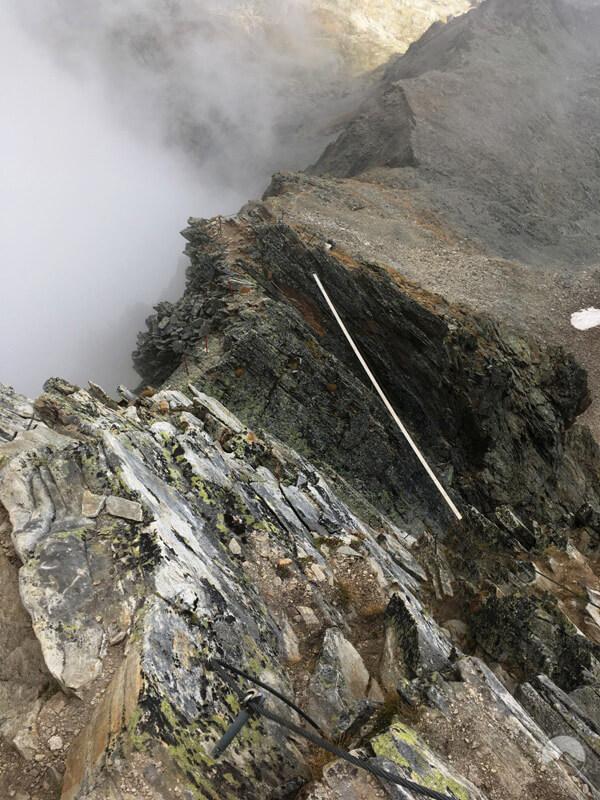 Variante mit Seilbrücke im Abstieg