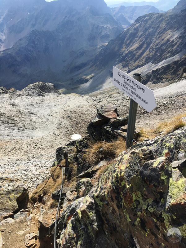 Ausgangspunkt Klettersteig Glödis