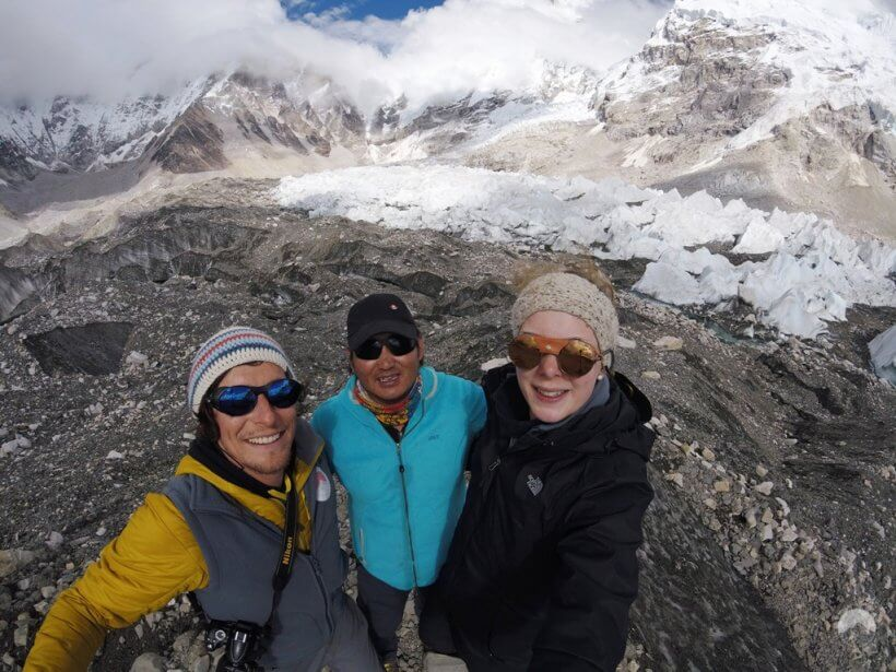 mit Prem Gurung, unserem Guide