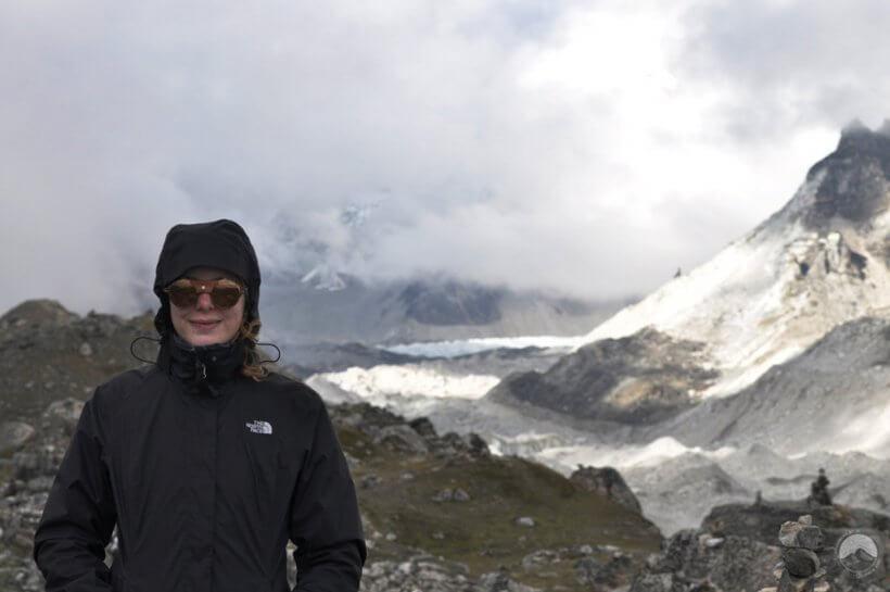 Khumbu-Gletscher und Base Camp aus der Ferne