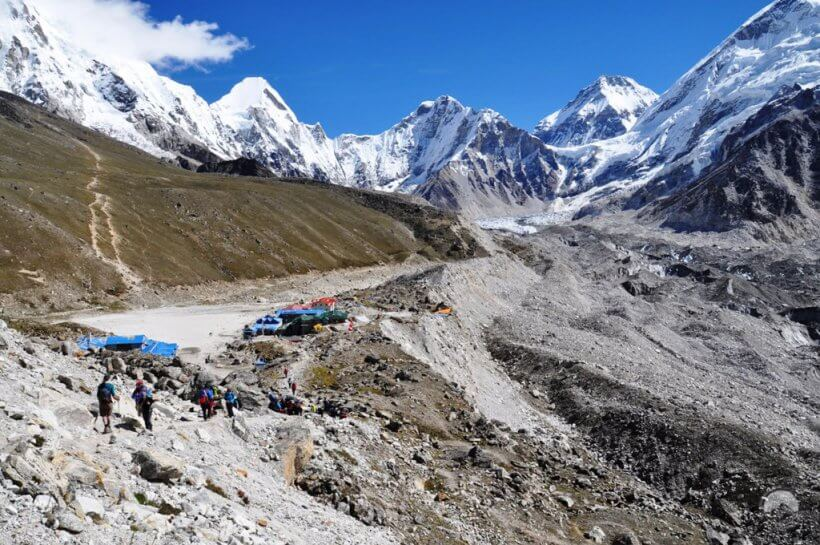 Gorak Shep und Everest Base Camp
