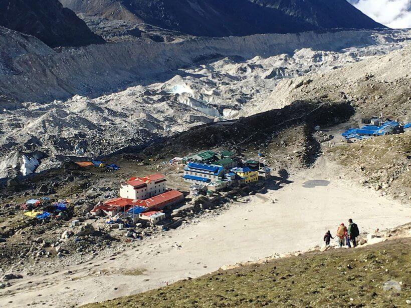 Abstieg nach Gorak Shep