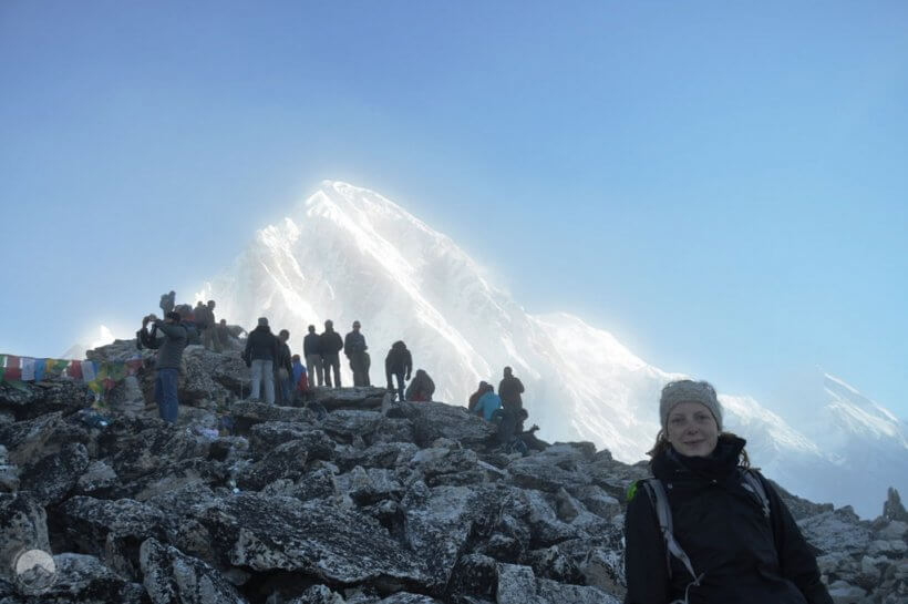 Silvia am Gipfel